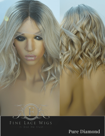 Blonde Color Lace Wigs for White Woment